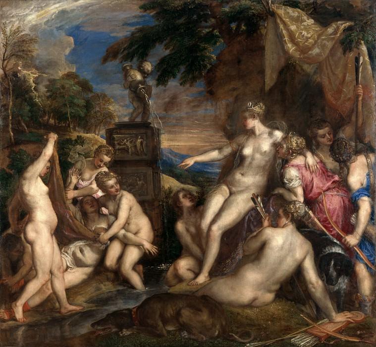 Diana and Callisto. Titian (Tiziano Vecellio)