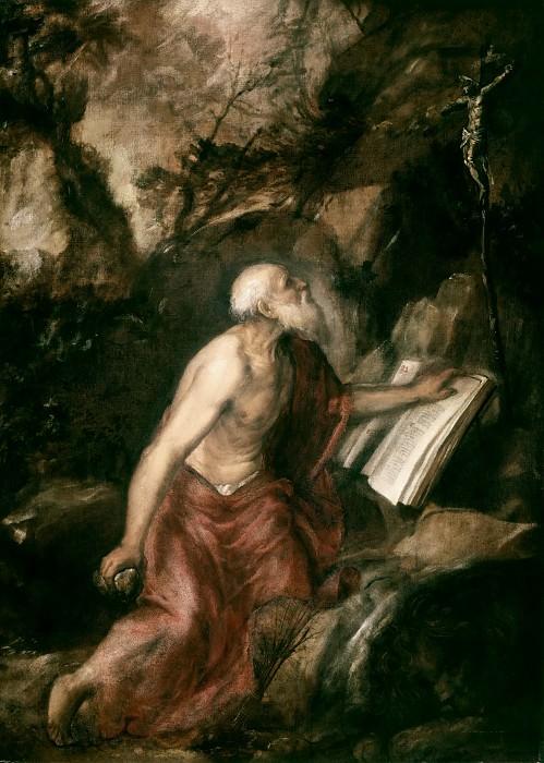 Кающийся святой Иероним. Тициан (Тициано Вечеллио)