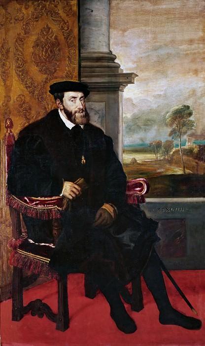 Emperor Charles V. Titian (Tiziano Vecellio)