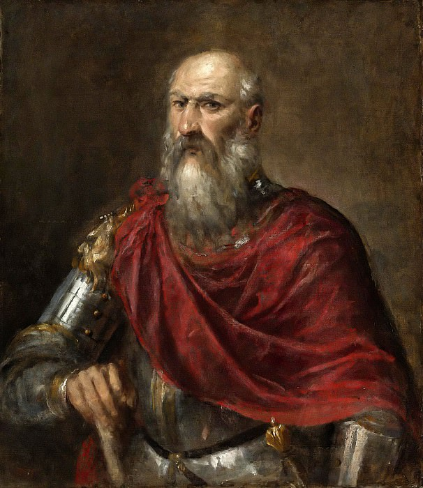 PORTRAIT OF AN ADMIRAL, PROBABLY FRANCESCO DUODO (1518-1592). Titian (Tiziano Vecellio)