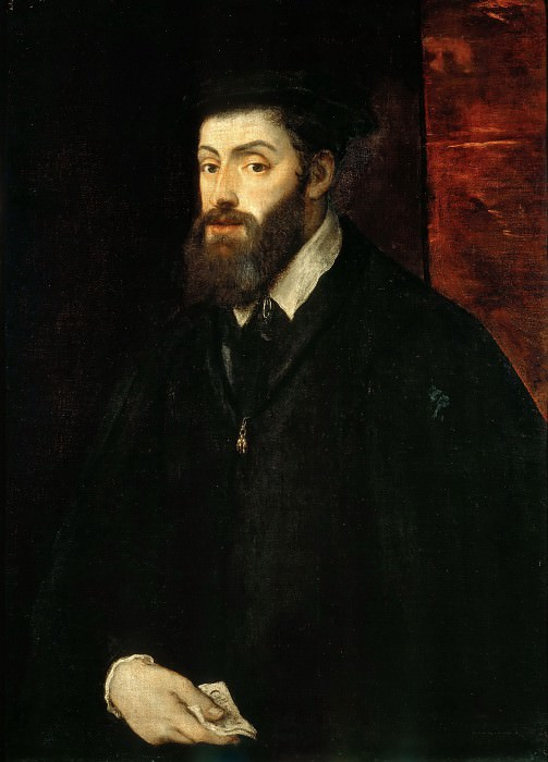 Portrait of Emperor Charles V (Attributed to Titian). Titian (Tiziano Vecellio)
