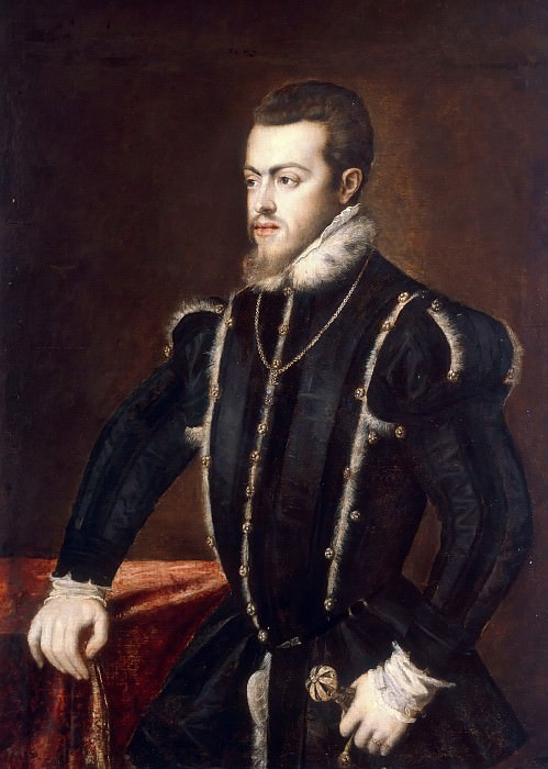 Philip II, King of Spain. Titian (Tiziano Vecellio)