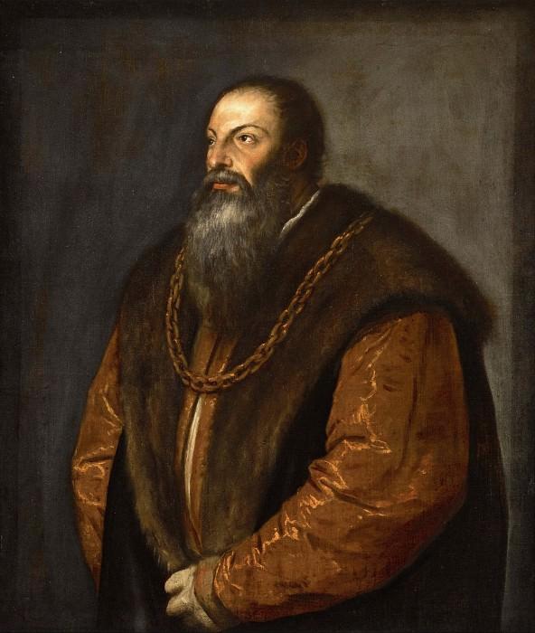 Pietro Aretino. Titian (Tiziano Vecellio)