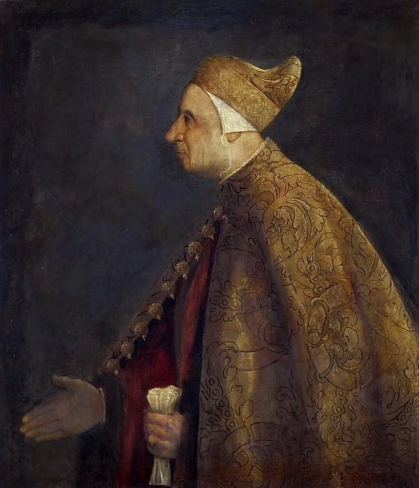 Portrait of Doge Nicolo Marcello. Titian (Tiziano Vecellio)