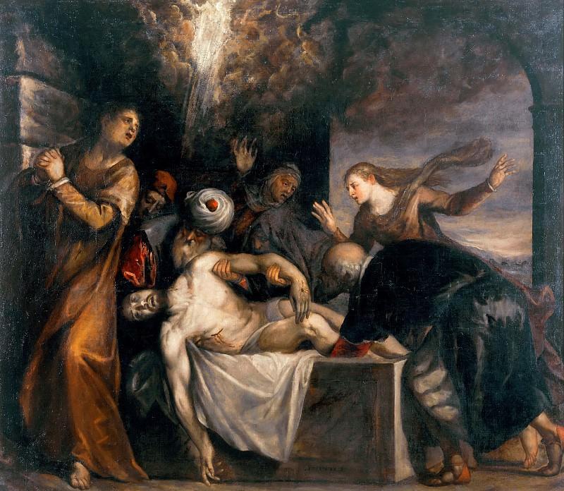 Burial of Jesus (Workshop of Titian). Titian (Tiziano Vecellio)