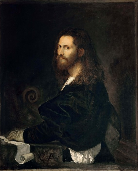 Portrait of a Violinist (attributed to Titian). Titian (Tiziano Vecellio)