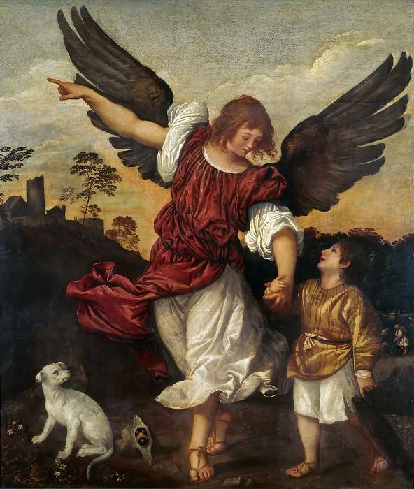 Tobias and the Angel. Titian (Tiziano Vecellio)