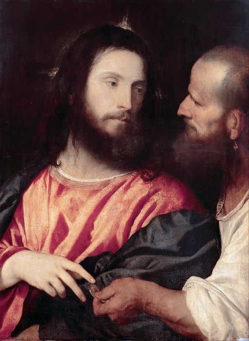 The Tribute Money. Titian (Tiziano Vecellio)