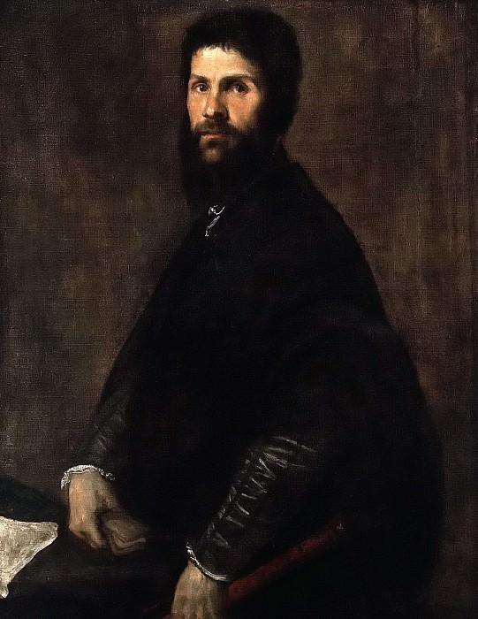 Man Holding a Flute. Titian (Tiziano Vecellio)