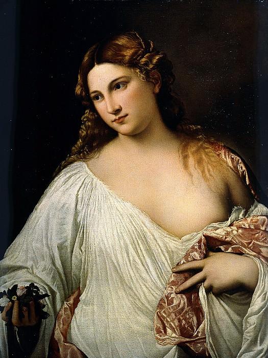 Flora. Titian (Tiziano Vecellio)