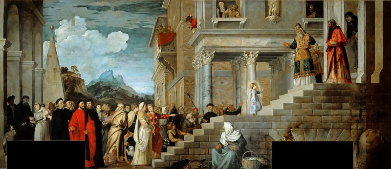 Presentation of Mary in the Temple. Titian (Tiziano Vecellio)