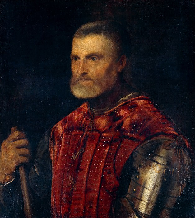Man in Armour. Titian (Tiziano Vecellio)
