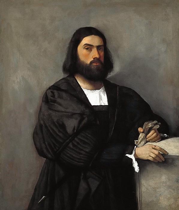 Portrait of a man. Titian (Tiziano Vecellio)