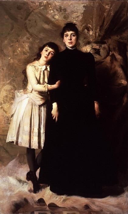 Мария Галлаврези с мамой. Чезаре Таллоне