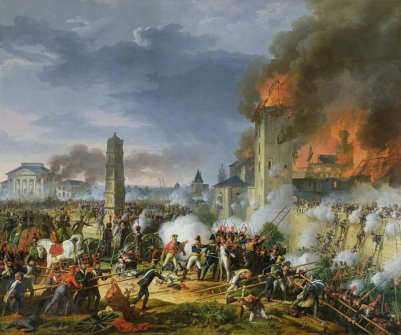 The Attack and Taking of Ratisbon, 23rd April 1809. Charles Thévenin