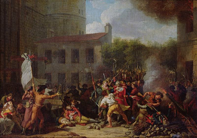 The Storming of the Bastille and the Arrest of Joseph Delaunay (1752-1794) on 14th July 1789. Charles Thévenin