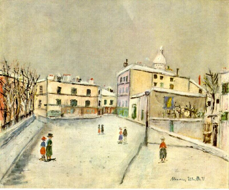 snow. Maurice Utrillo