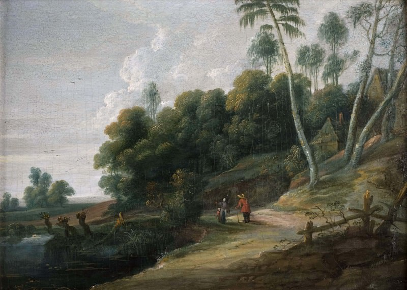 Landscape with a Road near a Lake. Lucas van Uden (Manner of)