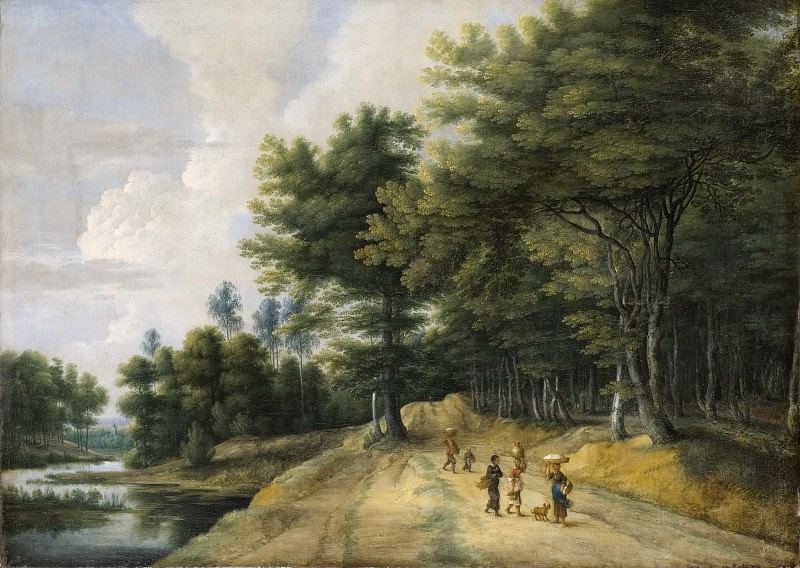 Landscape with a Road through a Wood of Beeches. Lucas van Uden