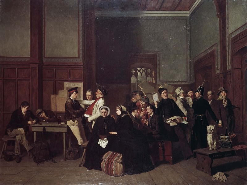 Third-Class Waiting-Room II. Carl de Unker