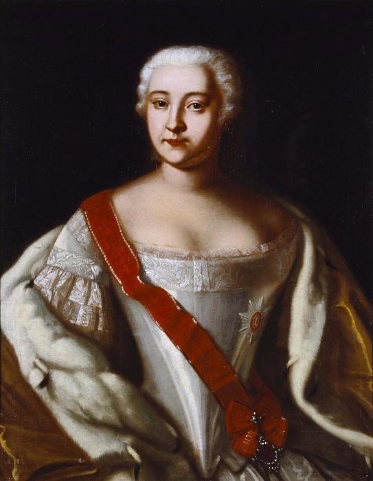 Elizabeth (1709-1762), Empress of Russia. Unknown painters
