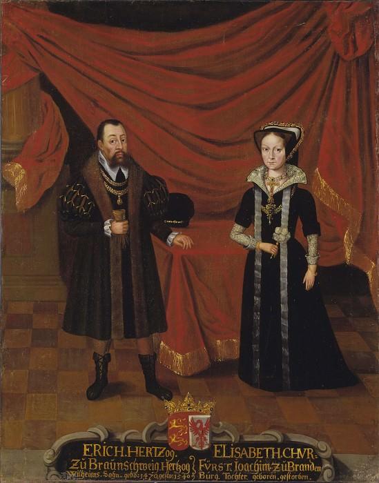 Portraits of Duke Erik I of Brunswick-Calenberg and Duchess Elisabet, Princess of Brandenburg. Unknown painters