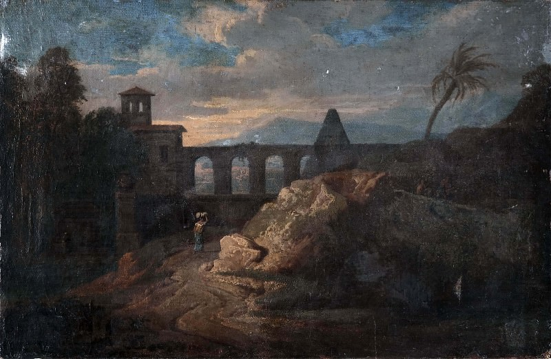 Landscape with Buildings and an Aqueduct. Unknown painters
