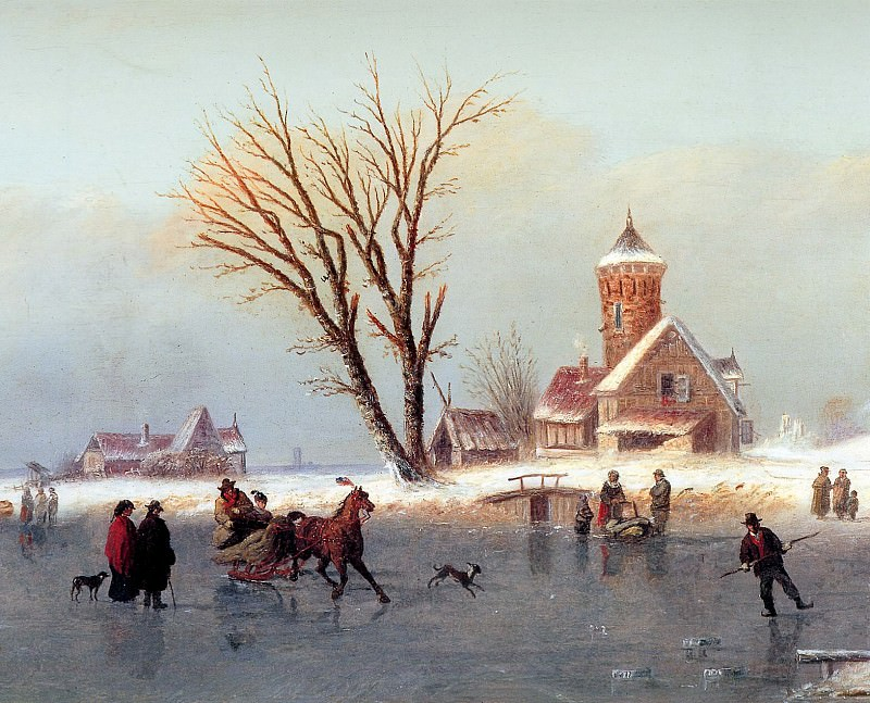 Winterland scape. Unknown painters