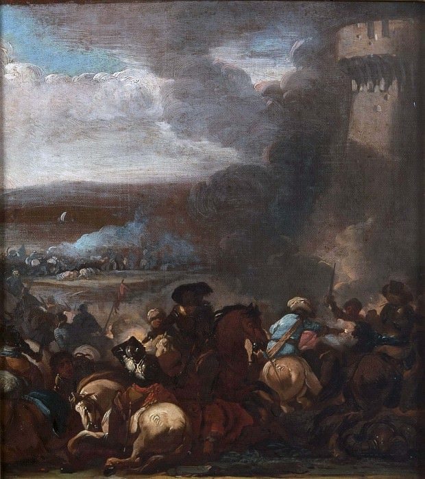 Battle Scene. Unknown painters