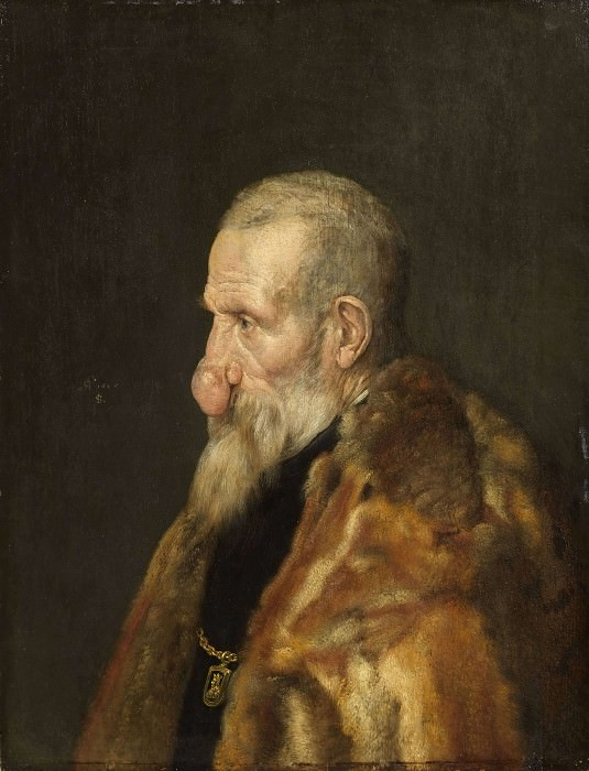 Monogrammist IS - Old Man with a Growth on his Nose. Unknown painters
