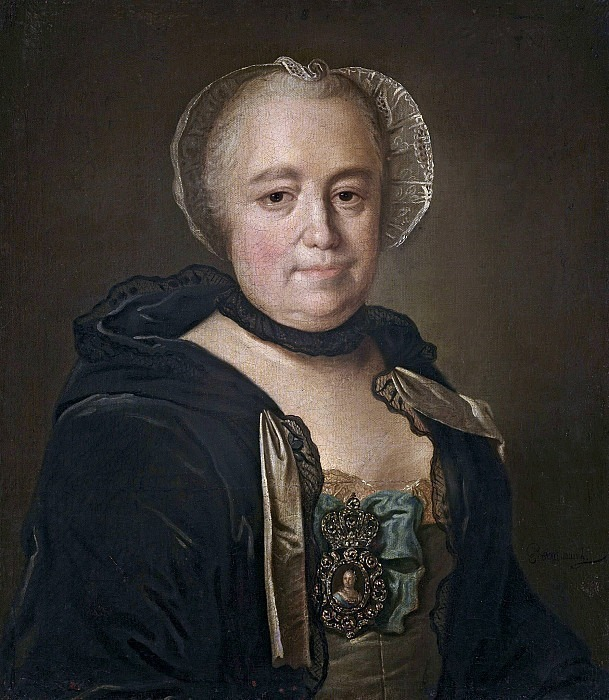 Portrait of an unknown lady of state. Unknown painters