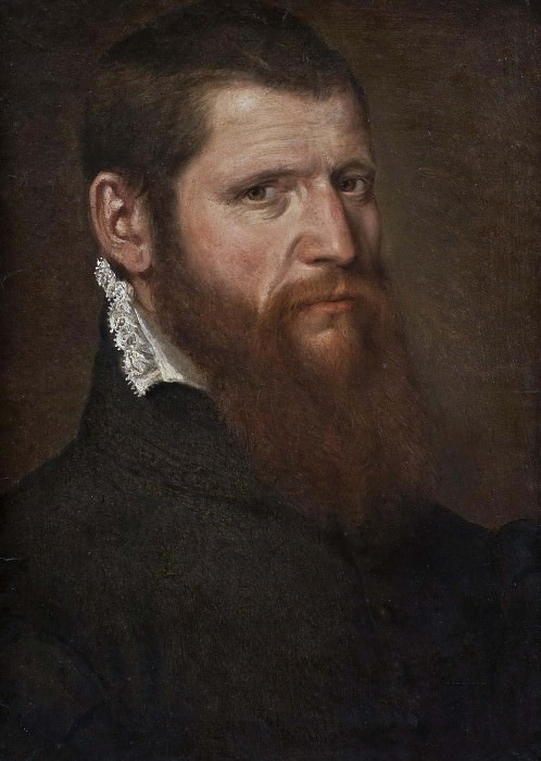 Portrait of a Man in Black. Unknown painters