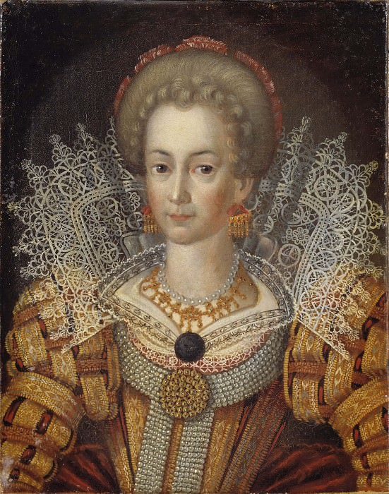 Unknown woman, formerly known as Cecilia Vasa (1540-1627), Princess of Sweden. Unknown painters