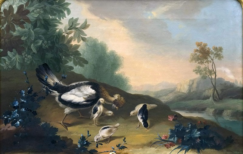 Landscape with Poultry. Unknown painters