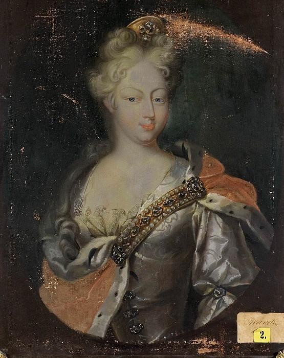 Неизвестная женщина, возможно, немецкая принцесса. Неизвестные художники