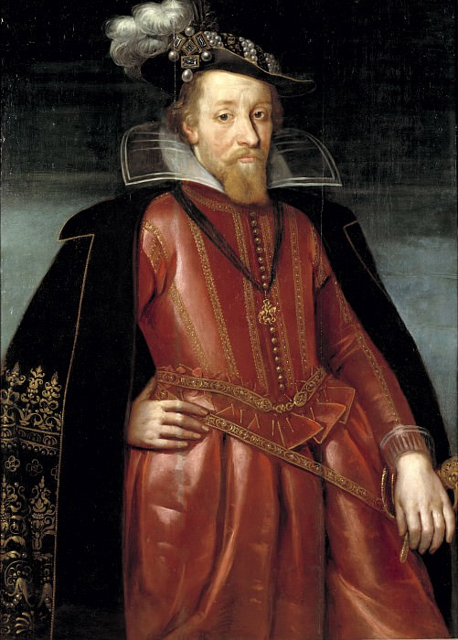 Jacob I (1566-1625), King of England and Scotland. Unknown painters