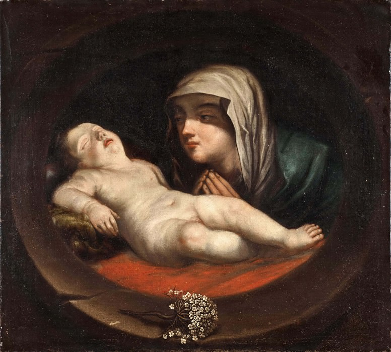 Maria with the child. Unknown painters