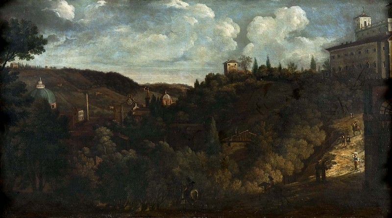 View of the Villa Medici, Rome. Unknown painters