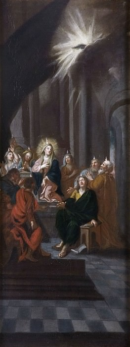 The pouring out of the Holy Ghost. Unknown painters