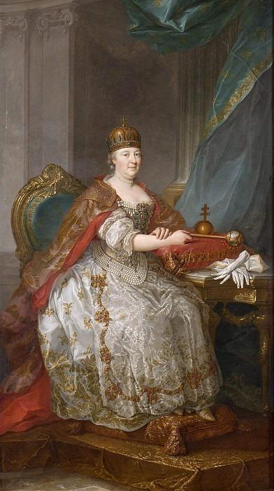 Maria Teresia (1717-1780), German-Roman Empress Queen of Austria and Bohemia. Unknown painters