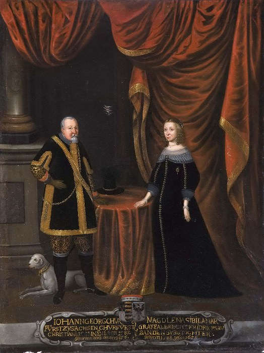 Johan Georg I (1585-1656), Elector of Saxony, Magdalena Sibylla (1652-1712), Princess of. Unknown painters