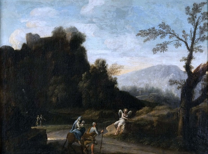 Landscape with the Flight into Egypt. Unknown painters