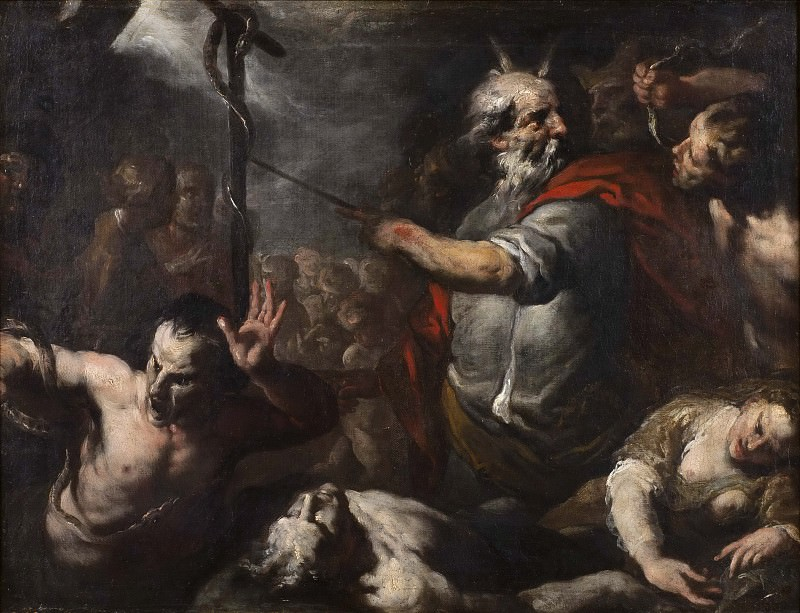 Moses and the Brazen Serpent. Unknown painters