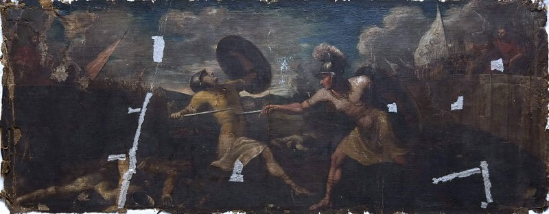 The battle between the Horatians and the Kurdishes. Unknown painters