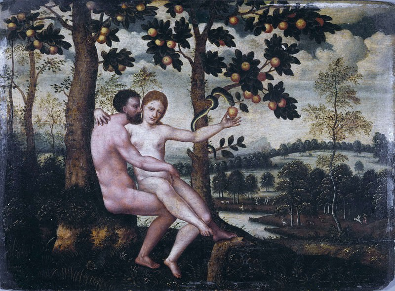 Adam and Eve. Unknown painters