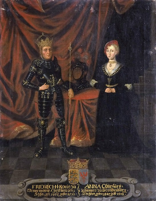 Fredrik I (1471-1533), King of Denmark and Norway and Anna, (1487-1514), Princess of Brandenburg. Unknown painters