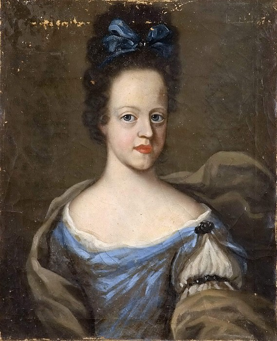 Unknown woman, probably Maria Elisabet (1678-1755), Princess of Holstein-Gottorp. Unknown painters