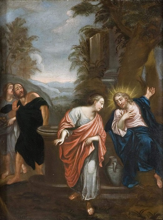 Christ and the Samaritan woman. Unknown painters