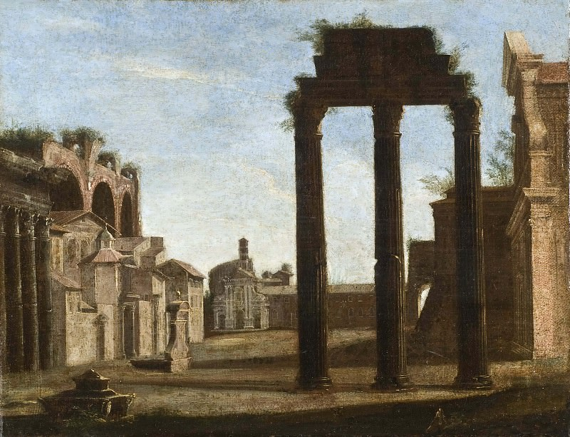 Campo Vaccino in Rome. Unknown painters