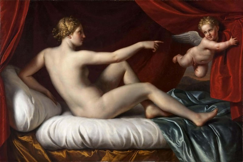 Venus and Cupid. Unknown painters